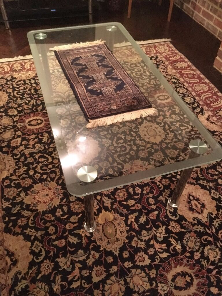 Glass coffee table for living room / office