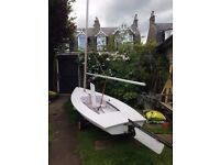 Used Byte sailing dinghy for sale (similar to Topper). Would suit younger beginner. Good condition