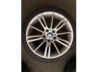 Genuine BMW MV3 Alloys with tyres