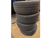 "4 Alloy Wheels (BMW 5 Series) - E60 E61 03-07 (16"") + 4 Pirelli Centuro P7 Tyres (225/55 R16)"