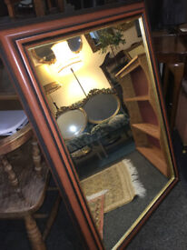 Fabulous Very Large Antique Style Mirror with Ornate Mahogany Wood & Gilt Frame