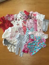Bundle of clothes 0-1yrs (24 items)