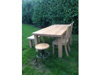 John Lewis solid oak table