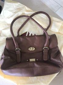 ROWALLAN 100% genuine leather brown ladies handbag - never been used