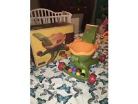 B toys walkness monster! Sturdy baby walker with ball fun! Excellent condition with box!