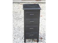 Shabby Chic Black Bedside drawer units
