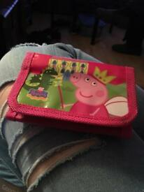 little sticky peppa pig wallet found on the ravenhill rd