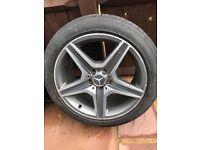 C63 AMG Mercedes - Genuine rear alloy wheel 18''