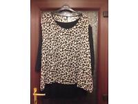 Evans leopard print long sleeved top