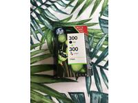 HP 300 black and colour 2 pack ink.