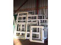 Selection of unused upvc window and door frames