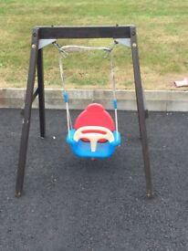 Kids mini garden swing