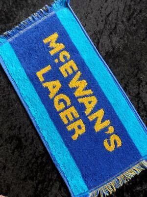 VINTAGE British PUB 1980s McEWAN'S LAGER BEER Bar Towel RUNNER MAT FREE POST