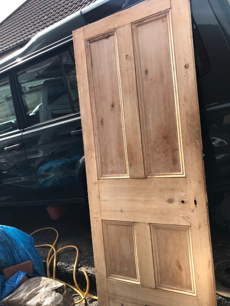 "Internal Wood Door Stripped 32"" By 79.5 Approx Solid Wood"