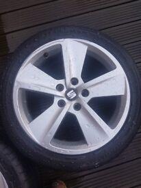 Seat alloy wheels tyres volkswagen audi skoda