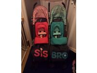 Cosatto bro and sis double buggy