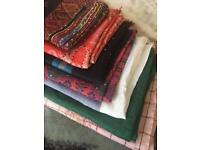 7 shawls,sequined/embroided, different sizes(bundle)