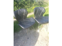 Pair of retro Charles Jacobs office chairs.