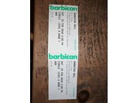 2 tickets to Nils Frahm Barbican matinee 24th Feb
