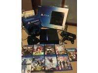 PS4 with games and accessories