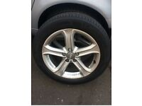 17 inch Audi alloy wheels and tyres.. immaculate condition