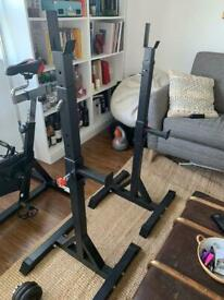 - SOLD - Adjustable squat rack