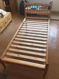 Pine single beds