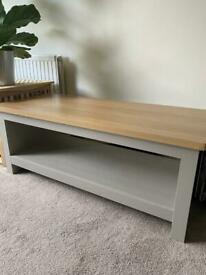 Coffee Table/ TV Stand, Colour Birch and Grey