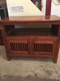 Tv storage unit solid wood