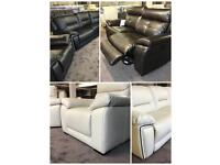 TOP BRANDED SOFAS AT CLEARANCE PRICES 3 and 2 CORNER LEATHER FABRIC THREE PIECE SUIES BLACK BROWN