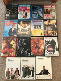 DVD and Blu-ray bundle job lot.