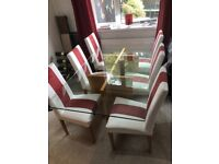 Dinning table, chairs and side unit