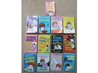 13 x Horrid Henry Book Bundle - Francesca Simon – A Handful of, A Giant Slice of, A helping of etc.