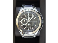 Armani Exchange Mens Chronograph Watch - boxed with instructions and spare links.