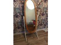 Free standing shabby chic mirror