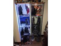 Large collection of 1/6 hot toys figures individually priced