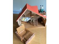 Sylvanian Families Log Cabin and tree house