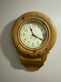 Wooden pine solid wall clock
