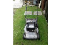 HARRY QUANTUM XTE 50 PETROL LAWNMOWER BRIGGS AND STRATTON VARIABLE SPEED SELF DRIVE WITH GRASS BOX