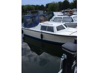 River boat Norman 18ft outboard and trailer