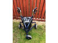 Days Steel Tri Wheel Walkers with Loop Lockable Brakes Blue - New No Packing