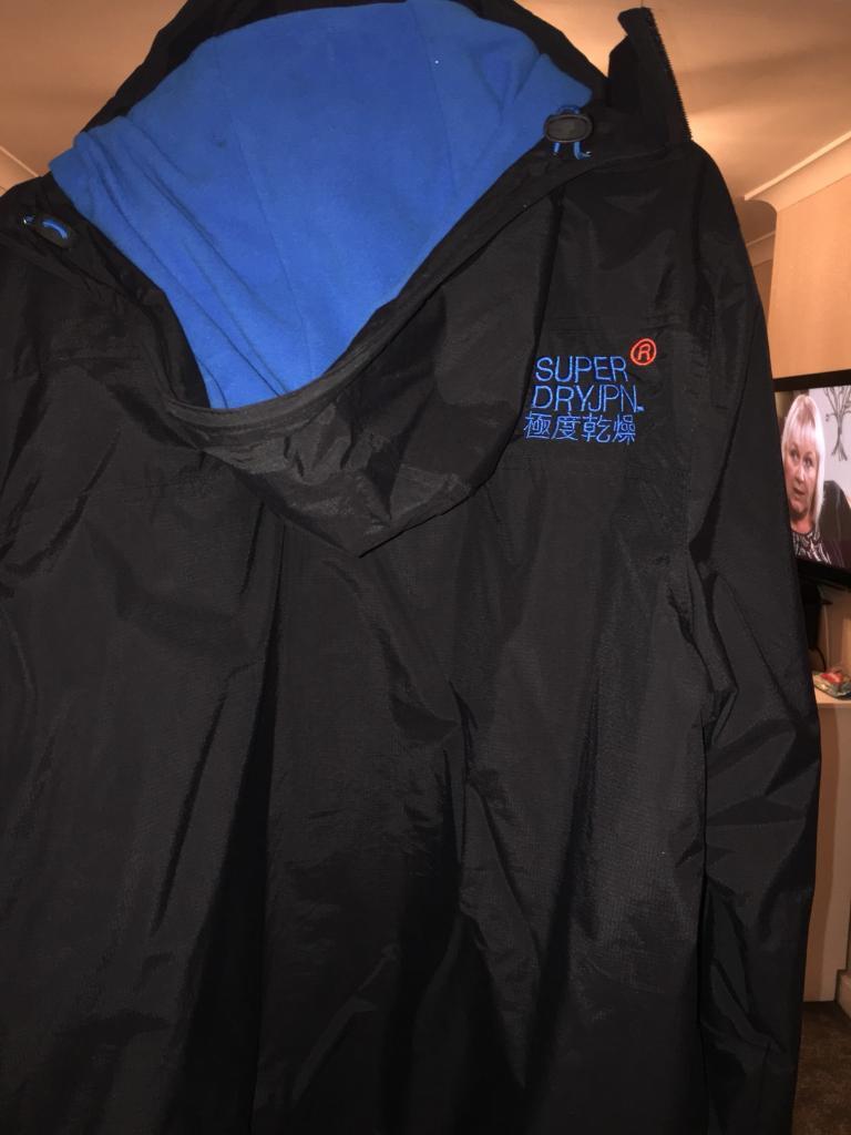 Superdry windcheater jacket black mens 2xl