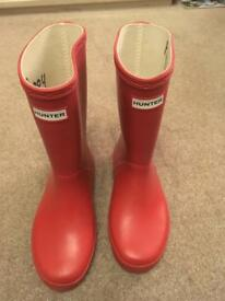 Children's Hunter wellington boots