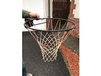 Basket ball net to be wall mounted