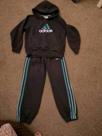 Adidas tracksuit. Age 6/7
