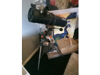 Celestron eq130 plus accessories.