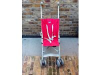 Chicco Foldable Buggy Pushchair Stroller With Storage Space At The Bottom Good Condition