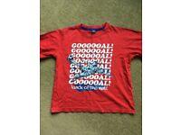 Boys Football Goal t-shirt age 7