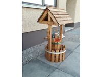 Garden feature wooden wishing well (hand made)