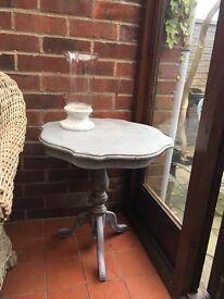 Small grey shabby chic table